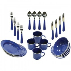 Stansport - 11220-03 - Stansport(TM) 11220-03 Deluxe Enamel Tableware Set, 24-piece