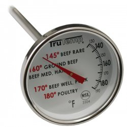 Taylor Precision - 3504 - Taylor 3504 TruTemp Series Analog Bimetal Meat Thermometer with FDA Temperture Guidelines on Dial