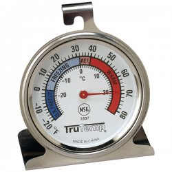 Taylor Precision - 3507 - Taylor 3507 TruTemp Refrigerator / Freezer Analog Dial Thermometer with Safety Zones