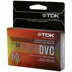 TDK - 37140 - TDK Life on Record 37140 MiniDV Digital Videocassette - MiniDV - 1 Hour - SP, 1.50 Hour - LP