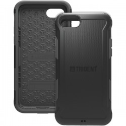 Trident Case - AG-APIPH7-BK000 - Trident Aegis Case For Apple iPhone 7 - iPhone 7 - Black - Thermoplastic Elastomer (TPE), Polycarbonate - 72 Drop Height