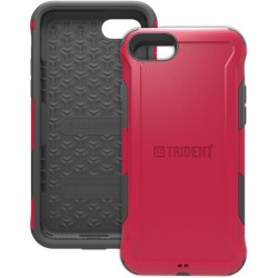 Trident Case - AG-APIPH7-RD000 - Trident Aegis Case For Apple iPhone 7 - iPhone 7 - Crimson - Thermoplastic Elastomer (TPE), Polycarbonate - 72 Drop Height