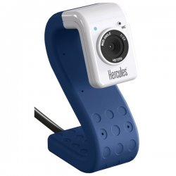 Hercules - 4780734 - Hercules 4780734 Hd Twist 5.0 Megapixel 720p High-definition Mini Web Cam (cobalt)