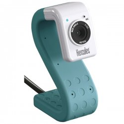 Hercules - 4780735 - Hercules 4780735 Hd Twist 5.0 Megapixel 720p High-definition Mini Web Cam (turquoise)