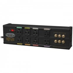 Tripp Lite - AVBAR8 - Tripp Lite Home Theater Ultimate Isobar Surge 8 outlets 3 HD Coax 3134 Joules - Receptacles: 8 x NEMA 5-15R - 3134J