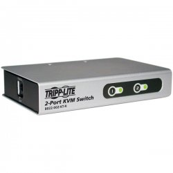 Tripp Lite - B022-002-KT-R - Tripp Lite 2-Port Desktop KVM Switch Slim w/ 2 KVM Cable Kits PS/2 - 2 Computer(s) - 1 Local User(s) - 2048 x 1536 - Desktop