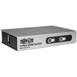 Tripp Lite - B022-002-KT-R - Tripp Lite 2-Port Desktop KVM Switch Slim w/ 2 KVM Cable Kits PS/2 - 2 Computer(s) - 1 Local User(s) - 2048 x 1536 - Desktop