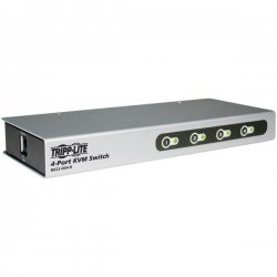 Tripp Lite - B022-004-R - Tripp Lite 4-Port Desktop KVM Switch Slim PS/2 / KVM Switch 4 ports - 4 Computer(s) - 1 Local User(s) - 2048 x 1536 - Desktop