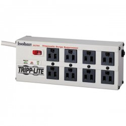 Tripp Lite - ISOBAR8ULTRA - Tripp Lite Isobar Surge Protector Metal 8 Outlet 12' Cord 3840 Joules - 8 x NEMA 5-15R - 1.44 kVA - 3840 J - 120 V AC Input - 120 V AC Output