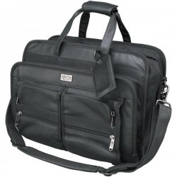 Tripp Lite - NB1005BK - Tripp Lite Corporate Top-Load Brief Bag Notebook / Laptop Computer Carrying Case - Top-loading - Leather - Black