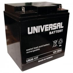 Upgi - 40596 - UPG 40596 UB122260T, Sealed Lead Acid Battery Case, 2 pk