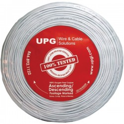 Upgi - 77034 - UPG(TM) 77034 22-Gauge, 4-Conductor Alarm White Cable, 500ft Coil Pack (Stranded)
