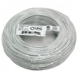 Upgi - 77519 - UPG(TM) 77519 18-Gauge, 2-Conductor Striped Control White Cable, 500ft Coil Pack