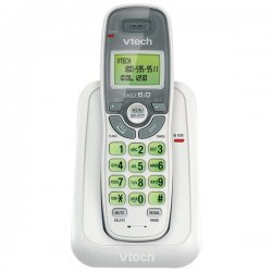 AT&T / VTech - CS6114 - VTech CS6114 DECT 6.0 Cordless Phone with Caller ID/Call Waiting, White with 1 Handset - Cordless - 1 x Phone Line - Backlight