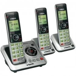AT&T / VTech - CS6629-3 - VTech Cordless Handset Phone, CS6629-3, DECT 6.0, 3 Handsets, Silver/Black