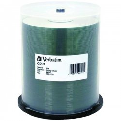 Verbatim / Smartdisk - 94797 - Verbatim CD-R 700MB 52X DataLifePlus Shiny Silver Silk Screen Printable - 100pk Spindle - Printable - Silk-screen Printable