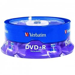 Verbatim / Smartdisk - 95033 - Verbatim AZO DVD+R 4.7GB 16X with Branded Surface - 25pk Spindle - 2 Hour Maximum Recording Time