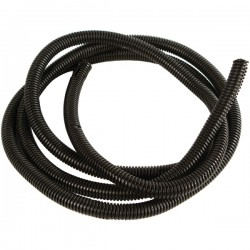 American Terminal - 27021 - Amercian Terminal Supply 27021 Black Split-Loom Cable Tubing, 100ft (.25)
