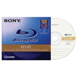 Sony - BNE25RH - Sony BNE25RH Blu-ray Rewritable Media - BD-RE - 2x - 25 GB - 1 Pack Jewel Case - 120mm