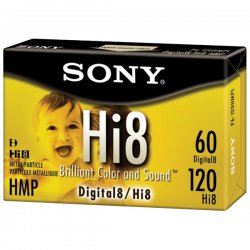 Sony - P6120HMPR - Sony Hi8 Videocassette - Hi8 - 8mm - 120 Minute