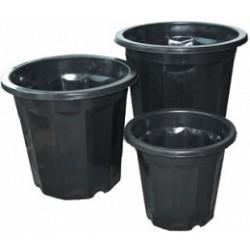 Hydrofarm - HG3QBK - Black Plastic Pot, 3 qt, pack of 75