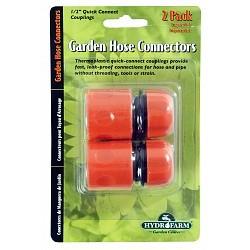 Hydrofarm - HGWC - Quick Hose Connectors, 1/2 inch, set of 2
