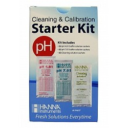 Hanna Instruments - HIPHKIT - Hanna Solution Starter Kit (Cleaning & pH Calibration)