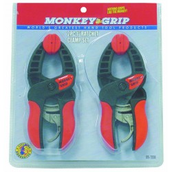 Barjan - 07572000 - Monkey Grip - 2 Piece 1 Ratchet Clamp Set With Quick Release