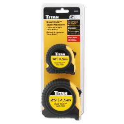 Titan Tool - 10903 - Titan - 2 Piece Combo 12' & 25' Dual Rule (standard & Metric) Tape Measure Set With Quick Read Markings