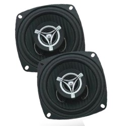 Power Acoustik - EF42 - Power Acoustik - 4 2-way 250 Watt 4 Ohm Coaxial Speaker Pair With Carbon Fiber Injected Polypropylene Cone, 1 Voice Coil, 1.2 Dome Tweeter & Grills