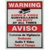 Vonnic - A1000 - Accessory A1000 Surveillance Warning SIGN 9 x 11 Plastic Red/White Retail