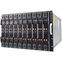 Supermicro - SBE-720E-R90 - Supermicro SuperBlade SBE-720E-R90 - Rack-mountable - 7U - up to 10 blades - power supply - hot-plug