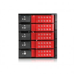 iStarUSA - BPN-DE350SS-RED - Frt Cost Incl Contigous Us Only Istarusa 3x5.25 To 5x3.5 Trayless