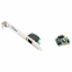 SYBA Multimedia - SD-MPE24031 - Network SD-MPE24031 mini-PCI Express GbE Ethernet with RJ45 10/100/1000 Base-T LAN Card Retail