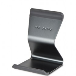 In Win Development - IW-ISEAT MINI GREY - Accessory IW-ISEAT MINI GREY Stand Tablet 5 to 10 Inch Aluminum Retail