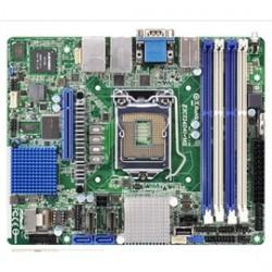 ASRock - E3C224D4I-14S - ASRock Rack E3C224D4I-14S LGA1150/ Intel C224/ DDR3/ SATA3&SAS3&USB3.0/ V&2GbE/ Extended Mini-ITX Server Motherboard