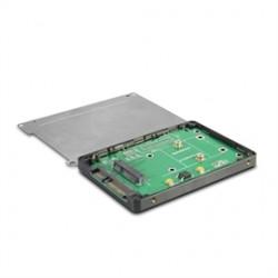 Vantec Thermal Technologies - MRK-MST250 - Vantec MRK-MST250 Drive Enclosure - 1 x Total Bay - 1 x 2.5 Bay - mini-SATA - Plastic, Aluminum