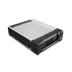 Vantec Thermal Technologies - MRK-320ST-BK - Vantec EZ Swap MRK-320ST-BK Drive Enclosure Internal - 1 x Total Bay - 1 x 3.5 Bay - 6Gb/s SAS, Serial ATA/600 - Aluminum - Cooling Fan