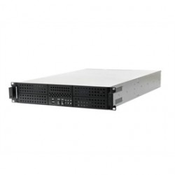 AIC - RMC-2N1-30E0-0-20L-A - Case RMC-2N1-30E0-0-20L-A 2U 4/1/(1) 7xLow Profile PCI 300W Single PSU with Door Black Brown Box