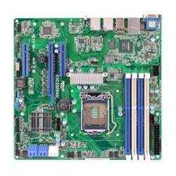 ASRock - E3C222D4U - ASRock Motherboard E3C222D4U Intel Xeon E3-1200v3 LGA1150 Intel C222 DDR3 SATA PCI-Express uATX Retail