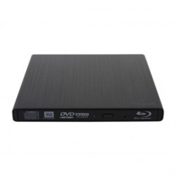 Rosewill - RBR-100 - External UltraSlim BDRW RBR-100 Aluminum 6x Blu-ray Disk Writer for PC Black Retail
