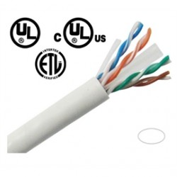 Vonnic - CBC61KWU - Cable CBC61KWU 1000feet Category 6 Unshielded Twisted Pair Ethernet Network Solid White Retail