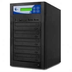 ILY Enterprise - MM04PIB - ILY Optical Disc Duplica MM04PIB 4 Copy DVD/CD/SD/CF/MS/MMC/USB Duplicator Multi-Format Black Retail
