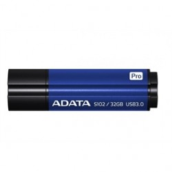 A-DATA Technology - AS102P-32G-RBL - Adata S102 Pro Advanced USB 3.0 Flash Drive - 32 GB - USB 3.0 - Titanium Blue