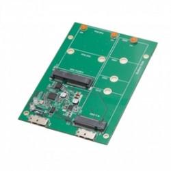 SYBA Multimedia - SY-ADA50088 - Accessory SY-ADA50088 USB 3.1 to M.2/mSATA SSD Adapter Retail