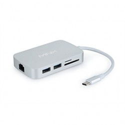 Giada - NEO-C-VSI - OPI Accessory NEO-C-VSI USB-C Multiport Adapter VGA Silver Retail