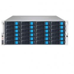 Sans Digital - EN424L12 - NAS EN424L12 4U 24Bay 4 NIC 12G SAS / 6G SATA Hardware RAID6 NAS+iSCSI Rackmount Server Retail