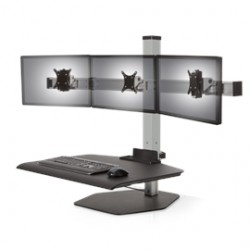 Innovative Office Products - WNST-3-124 - Innovative Accessory WNST-3-124 Winston Workstation 3xFreestanding Sit-Stand Silver Retail