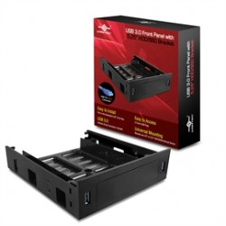Vantec Thermal Technologies - HDA-502H - Vantec Accessory HDA-502H USB 3.0 Front Panel with 5.25inch HDD/SSD Bracket Retai