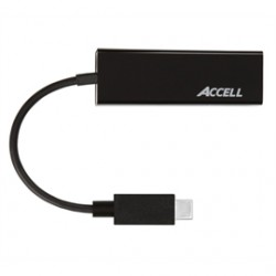 Accell - U187B-001B - Accell USB-C to Gigabit Ethernet Adapter - USB 3.0 - 1 Port(s) - 1 - Twisted Pair - Retail
